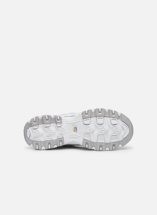 Sneakers Skechers D'LITES SUMMER FIESTA Bianco immagine dall'alto
