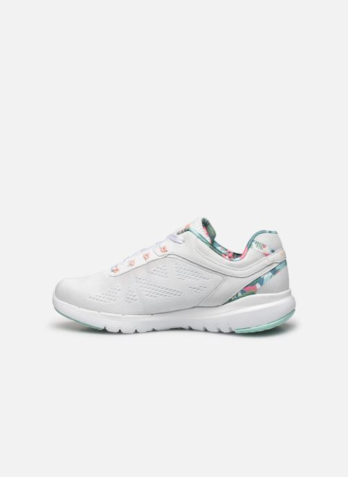 Baskets Skechers FLEX APPEAL 3.0 TROPICAL PRINCESS Blanc vue face