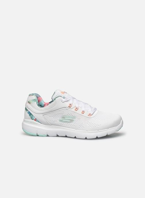 Baskets Skechers FLEX APPEAL 3.0 TROPICAL PRINCESS Blanc vue derrière