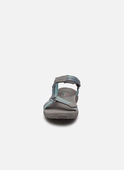 Sandalen Skechers REGGAE DUB FEST grau schuhe getragen