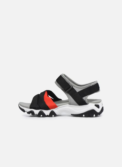 Sandales et nu-pieds Skechers D'LITES 2.0 MEGA SUMMER Gris vue face