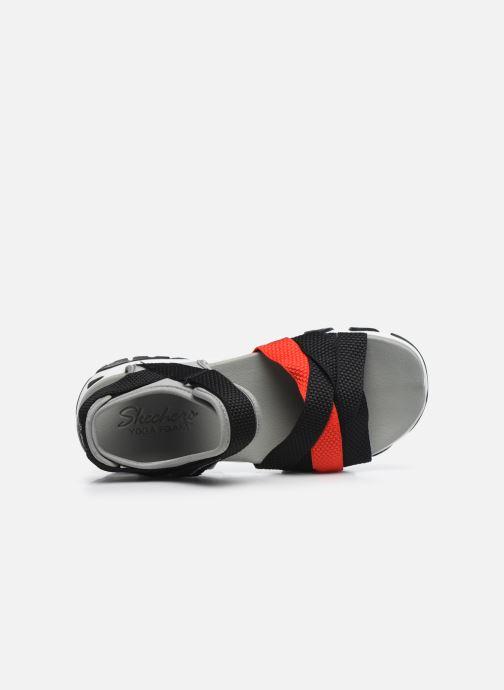 Sandales et nu-pieds Skechers D'LITES 2.0 MEGA SUMMER Gris vue gauche