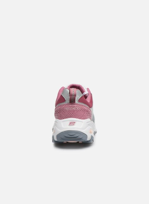 Baskets Skechers D'LITES FAN LOVE Gris vue droite