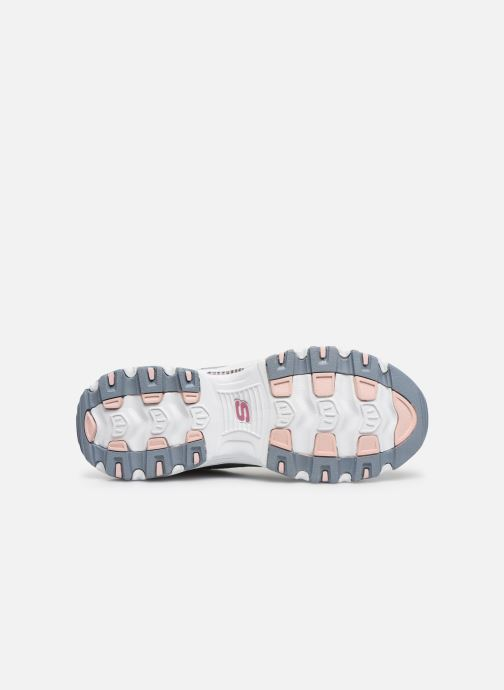 Baskets Skechers D'LITES FAN LOVE Gris vue haut
