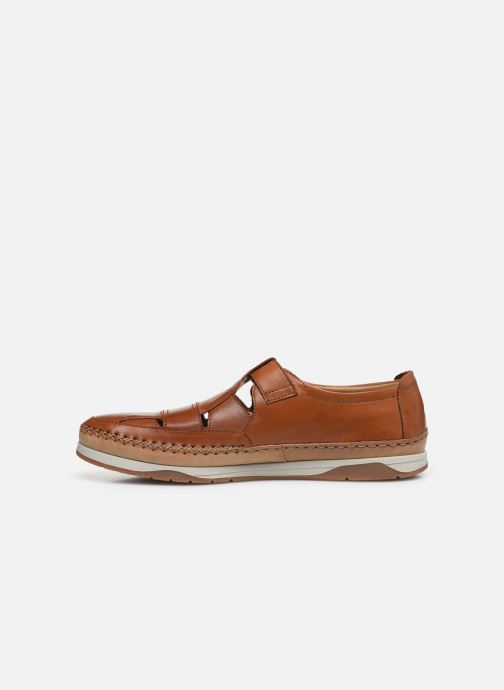 Zapatos con velcro Fluchos Kendal F0813 Marrón vista de frente