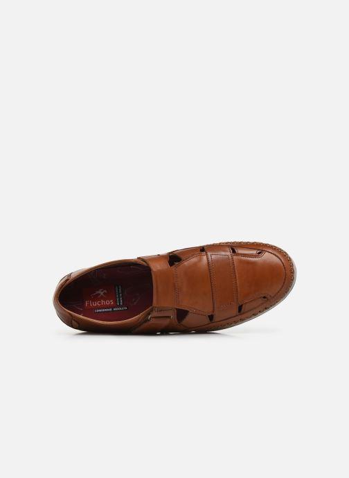 Zapatos con velcro Fluchos Kendal F0813 Marrón vista lateral izquierda