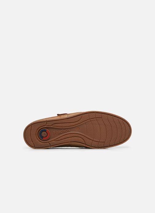 Zapatos con velcro Fluchos Kendal F0813 Marrón vista de arriba