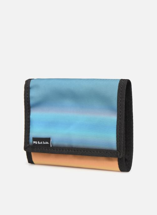Petite Maroquinerie PS Paul Smith Horizon Stripes Billfold Multicolore vue portées chaussures