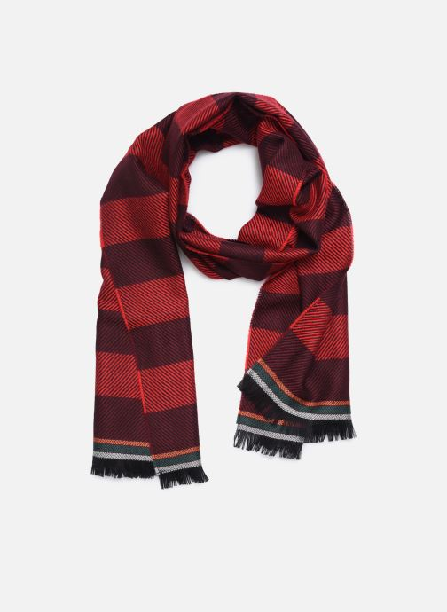 Echarpes et Foulards PS Paul Smith Men Scarf Two Stripes Rouge vue détail/paire