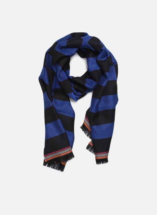 Schal PS Paul Smith Men Scarf Two Stripes blau detaillierte ansicht/modell