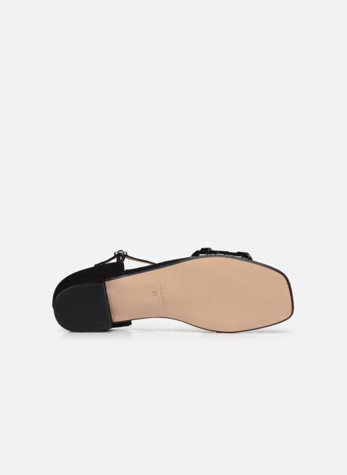Sandales et nu-pieds Georgia Rose Dominou Noir vue haut