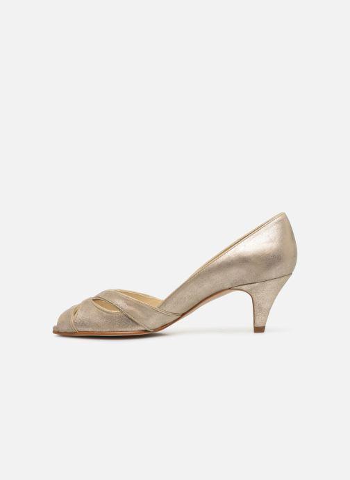 Zapatos de tacón Georgia Rose Dicroisa Oro y bronce vista de frente