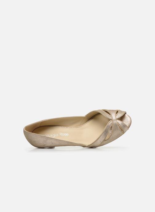 Zapatos de tacón Georgia Rose Dicroisa Oro y bronce vista lateral izquierda