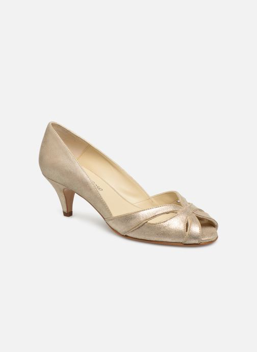 Zapatos de tacón Georgia Rose Dicroisa Oro y bronce vista de detalle / par