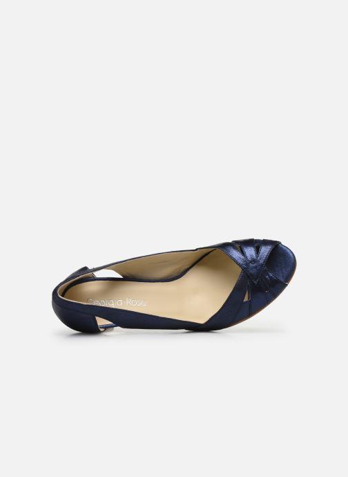 Zapatos de tacón Georgia Rose Demerva Azul vista lateral izquierda