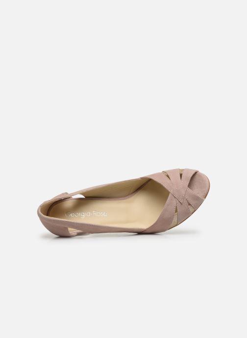 Zapatos de tacón Georgia Rose Demerva Beige vista lateral izquierda