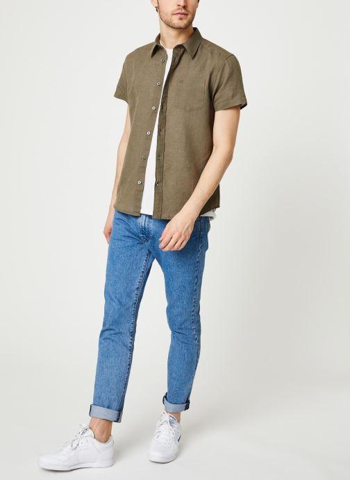 Vêtements Wrangler SS 1 Pocket Shirt Vert vue bas / vue portée sac