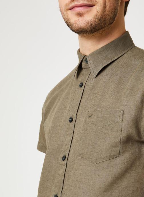 Vêtements Wrangler SS 1 Pocket Shirt Vert vue face