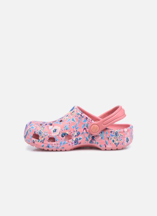 Sandali e scarpe aperte Crocs Liberty London x Crocs Classic Clog K Rosa immagine frontale