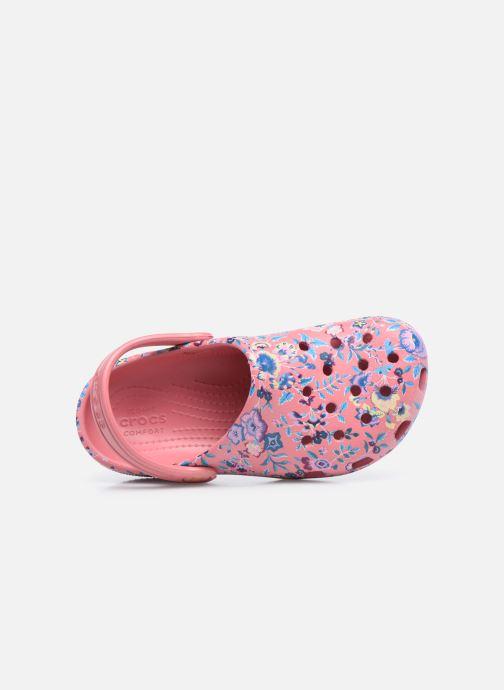 Sandali e scarpe aperte Crocs Liberty London x Crocs Classic Clog K Rosa immagine sinistra