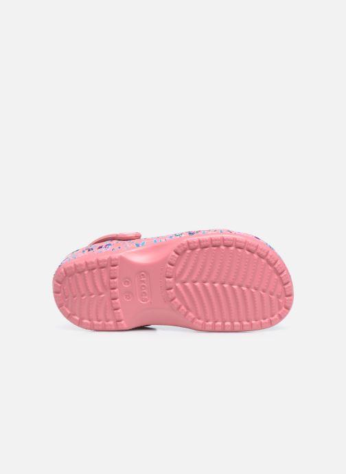 Sandalias Crocs Liberty London x Crocs Classic Clog K Rosa vista de arriba