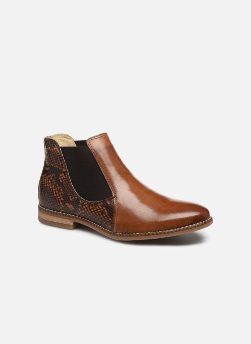 Bottines et boots Georgia Rose Nython Marron vue détail/paire