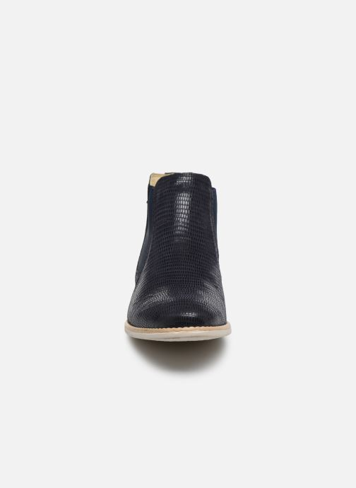 Bottines et boots Georgia Rose Nython Bleu vue portées chaussures