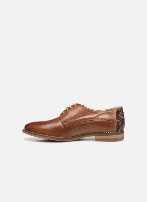 Chaussures à lacets Georgia Rose Nerpant Marron vue face
