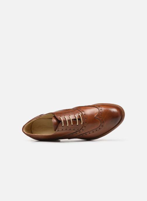 Zapatos con cordones Georgia Rose Noubois Marrón vista lateral izquierda