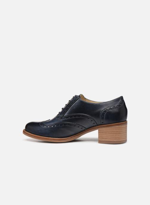 Zapatos con cordones Georgia Rose Noubois Azul vista de frente