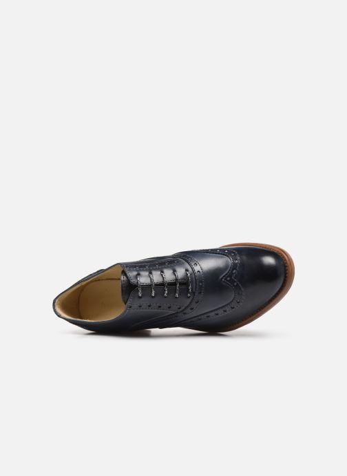 Zapatos con cordones Georgia Rose Noubois Azul vista lateral izquierda