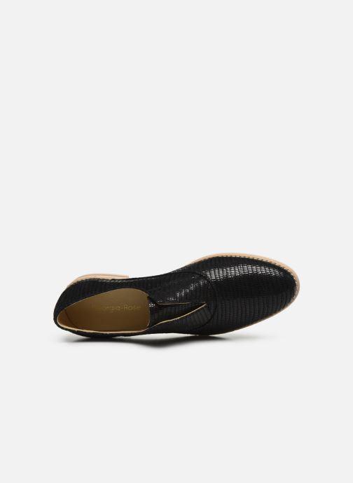 Zapatos con cordones Georgia Rose Nibant Negro vista lateral izquierda