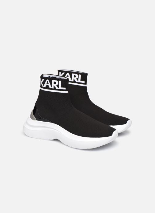 Baskets Karl Lagerfeld Skyline Knit Ankle Pull On Noir vue 3/4