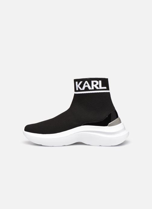 Baskets Karl Lagerfeld Skyline Knit Ankle Pull On Noir vue face
