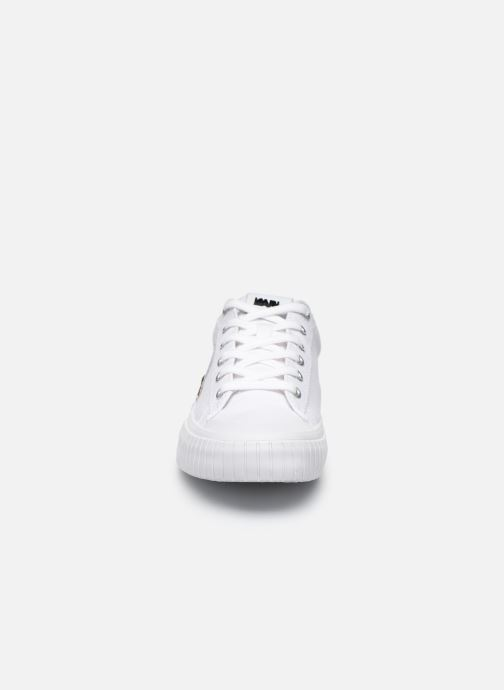 Baskets Karl Lagerfeld Kampus II Karl Ikonic Lo Lace Blanc vue portées chaussures