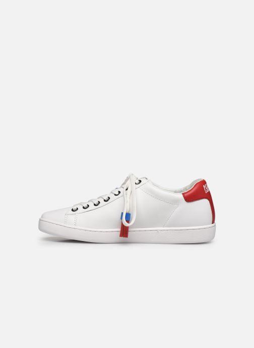 Baskets Karl Lagerfeld Kupsole II Pixel Pair Lace Blanc vue face