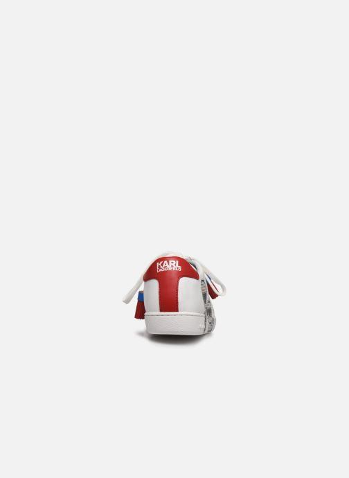 Baskets Karl Lagerfeld Kupsole II Pixel Pair Lace Blanc vue droite