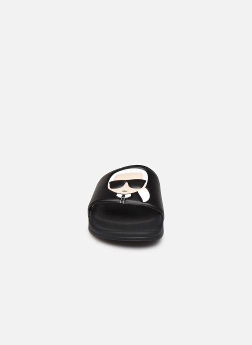 Mules et sabots Karl Lagerfeld Kondo II Ikonic Slide Noir vue portées chaussures