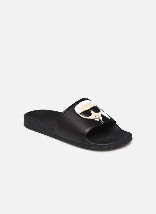 Mules et sabots Karl Lagerfeld Kondo II Ikonic Slide Noir vue détail/paire