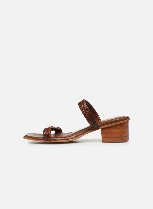 Zuecos ST.AGNI Camille Woven Sandal Marrón vista de frente