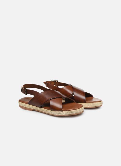 Sandali e scarpe aperte ST.AGNI Basque espadrille Marrone immagine 3/4