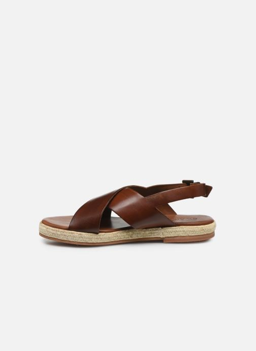 Sandali e scarpe aperte ST.AGNI Basque espadrille Marrone immagine frontale