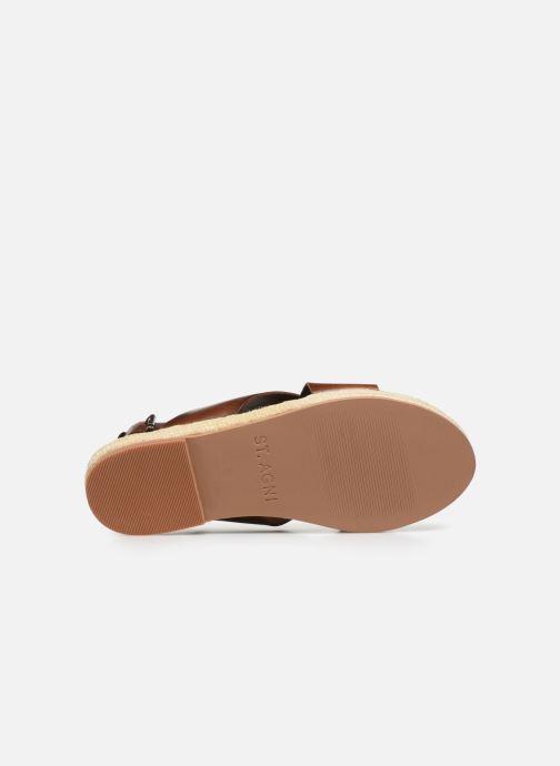 Sandali e scarpe aperte ST.AGNI Basque espadrille Marrone immagine dall'alto