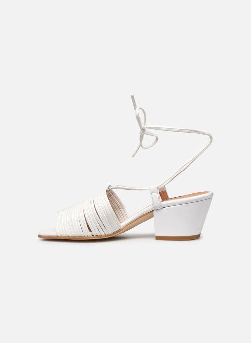 Sandales et nu-pieds About Arianne Martin Blanc vue face