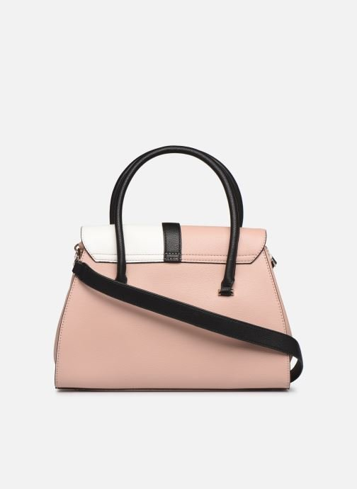 Sacs à main Guess ASHER FLAP SATCHEL Rose vue face