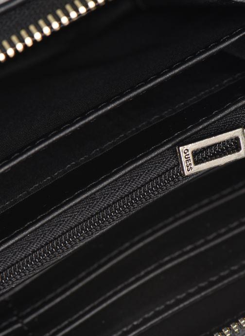 Kleine lederwaren Guess BRIELLE LARGE ZIP AROUND Zwart achterkant