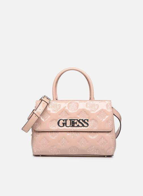Bolsos de mano Guess GUESS CHIC GIRLFRIEND SATCHEL Rosa vista de detalle / par