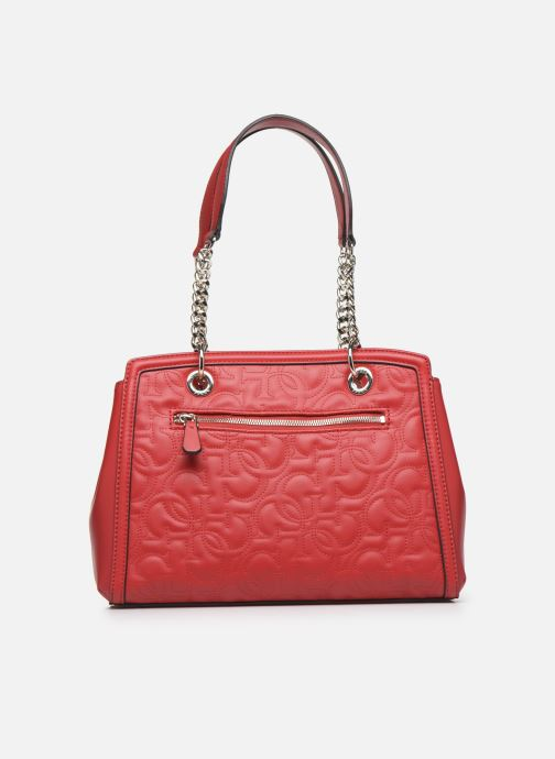 Sacs à main Guess NEW WAVE LUXURY SATCHEL Rouge vue face