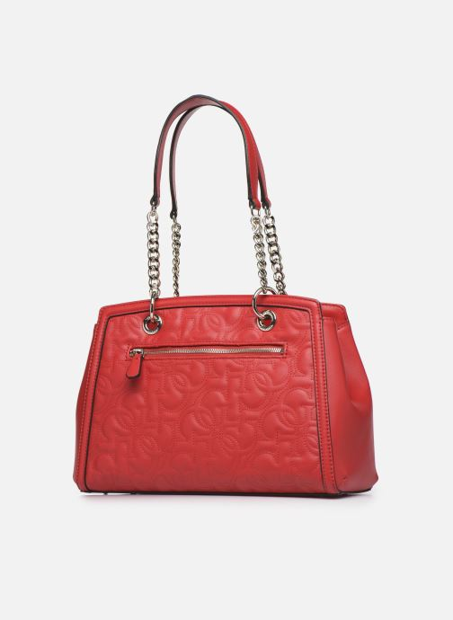 Sacs à main Guess NEW WAVE LUXURY SATCHEL Rouge vue droite
