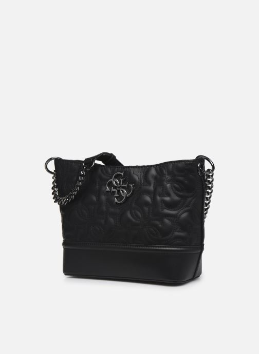 Bolsos de mano Guess NEW WAVE SMALL HOBO Negro vista del modelo